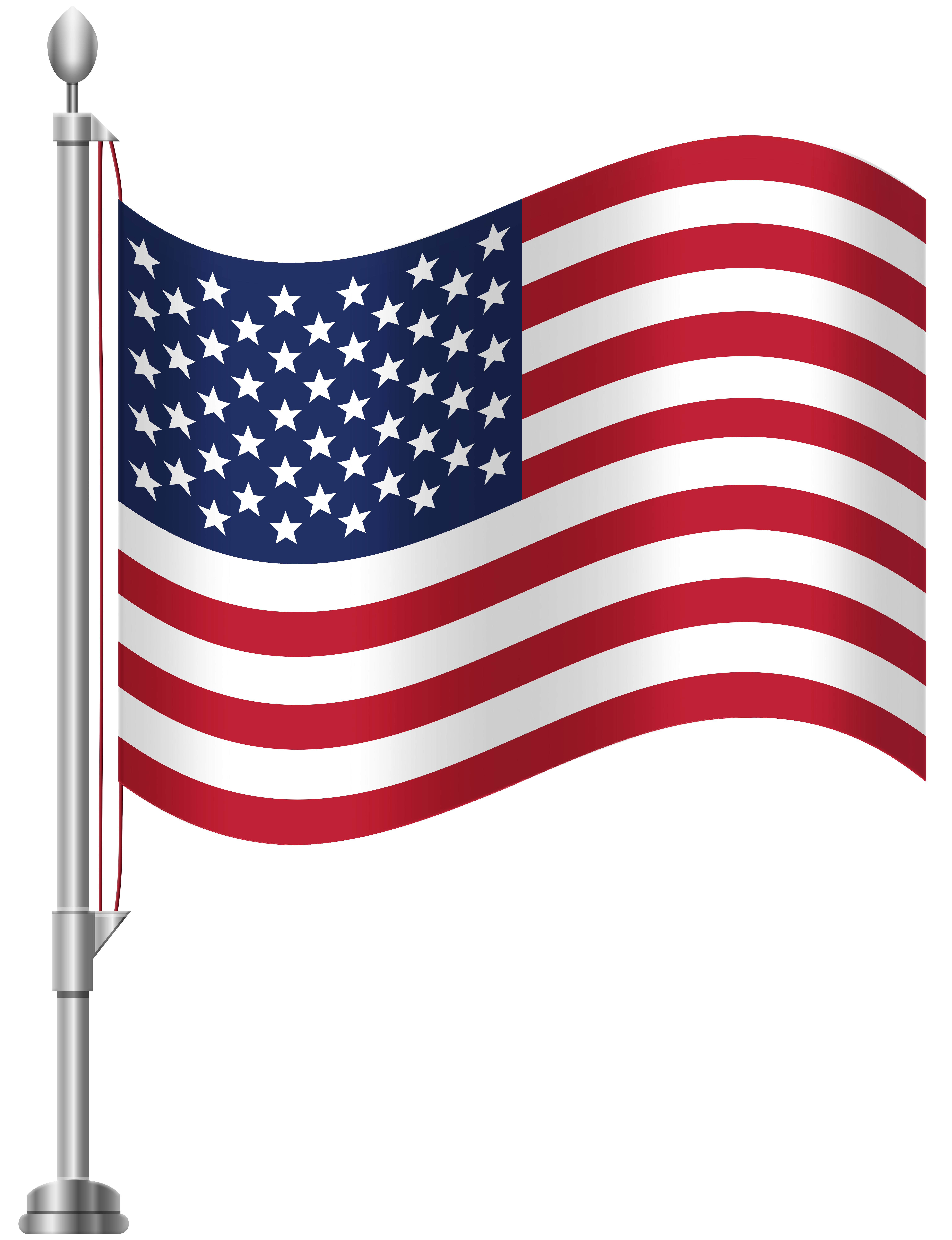 6141x8000 United States Clipart American Flag