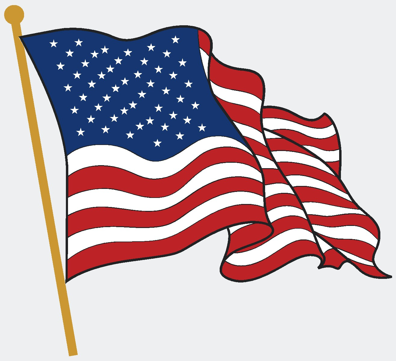 1316x1200 American Flag Clip Art Images Free
