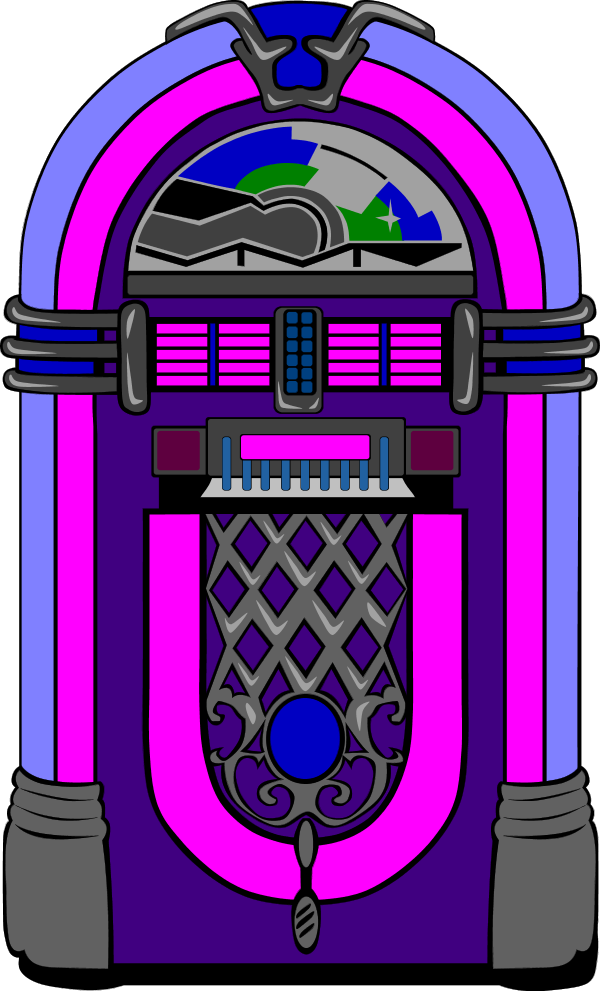 600x991 50s Jukebox Clipart