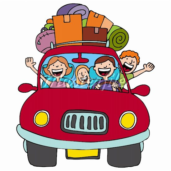 550x550 Family In 50s Car Clipart Transparent
