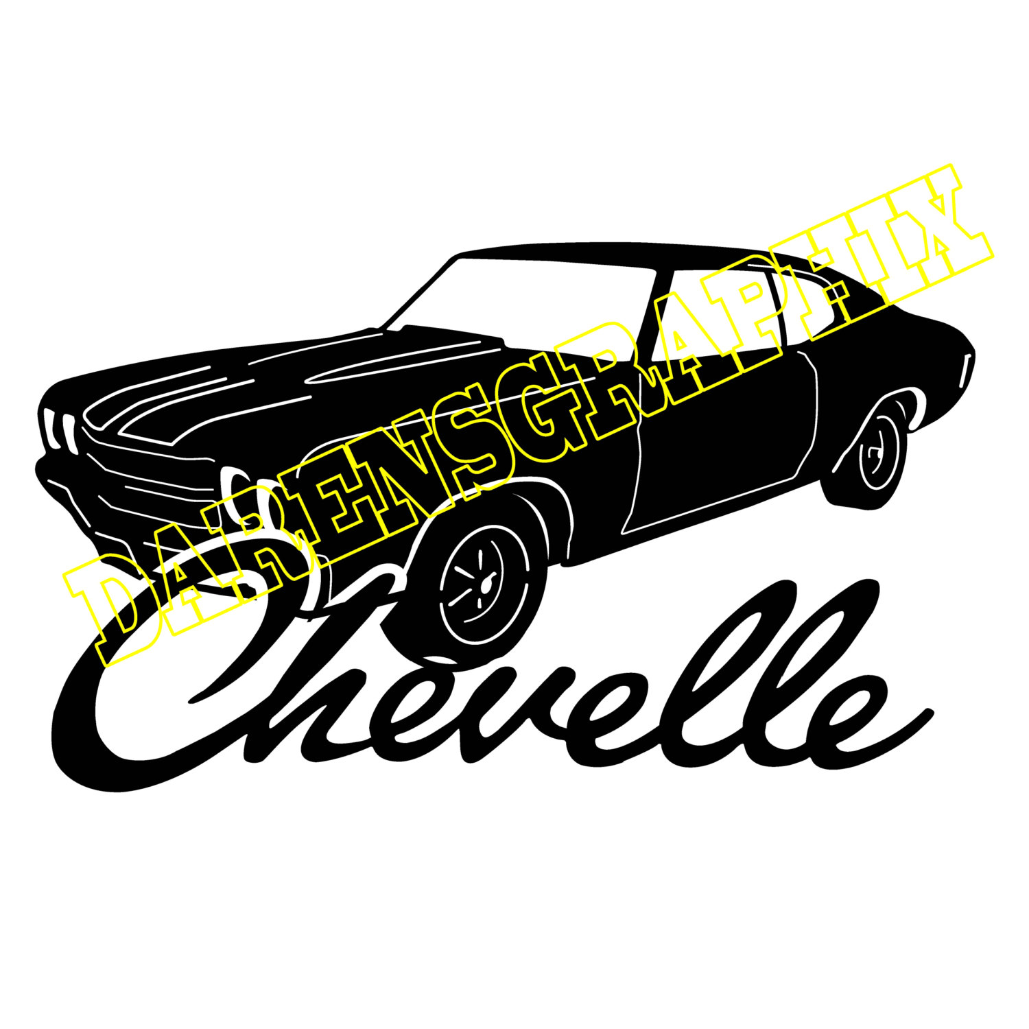 1500x1500 Dxf File Of A Chevy Chevelle For Use With A Cnc Machine