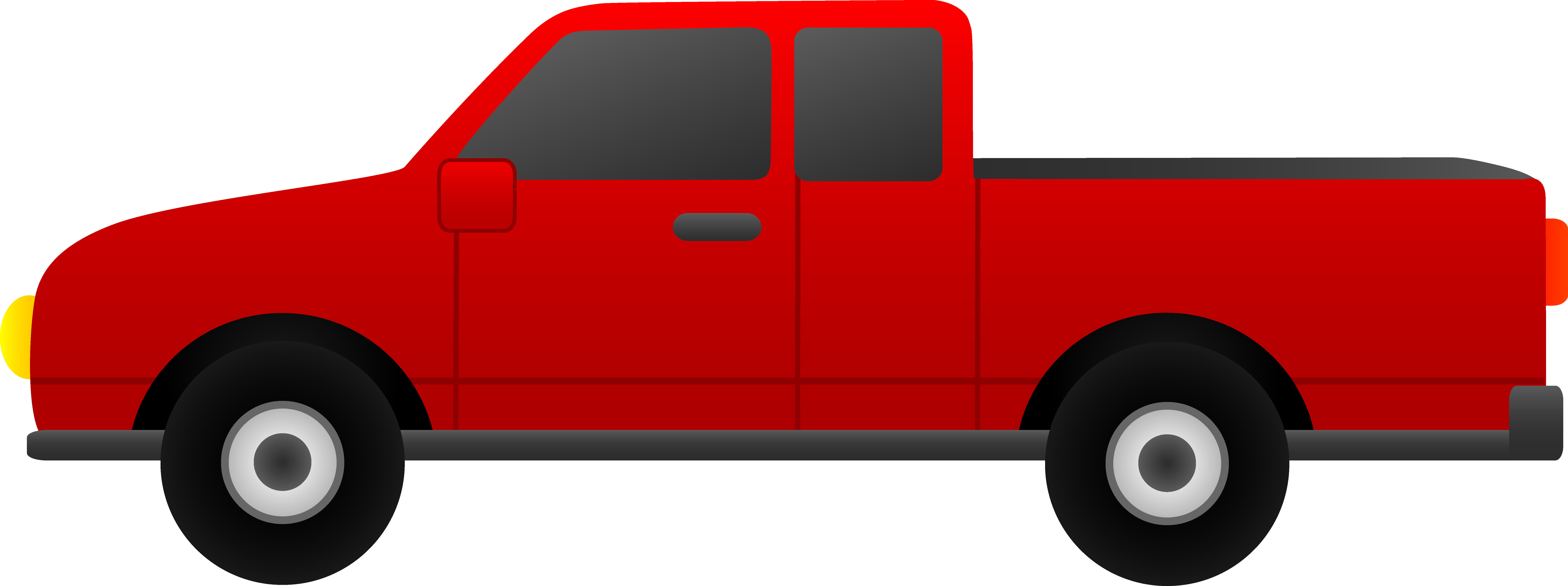 8576x3207 Free Clipart Pick Up Truck
