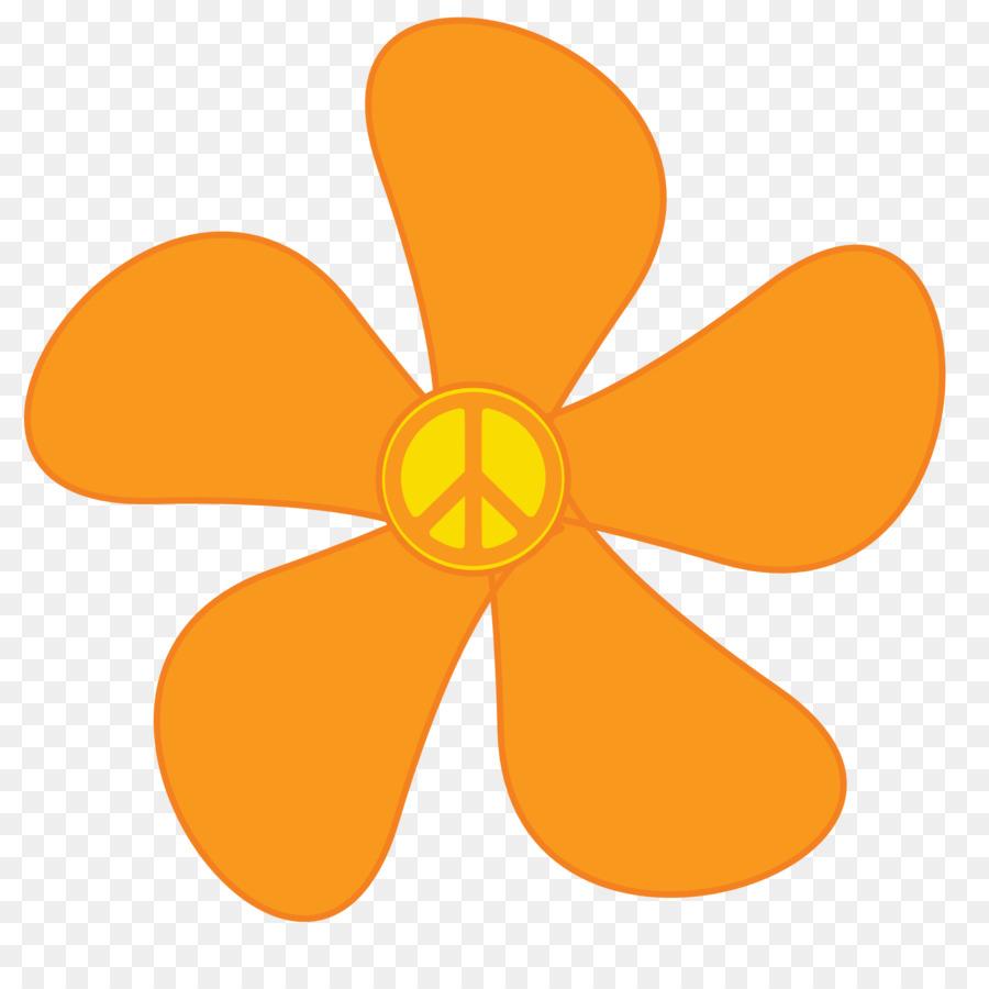 900x900 1960s Hippie Flower Power Clip Art