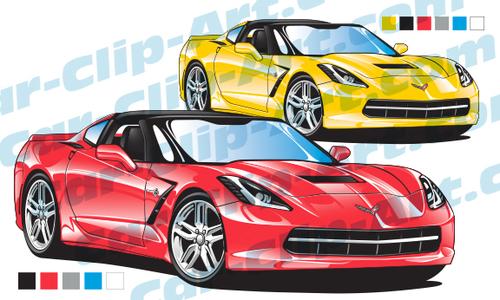 500x300 Corvette Stingray Clipart