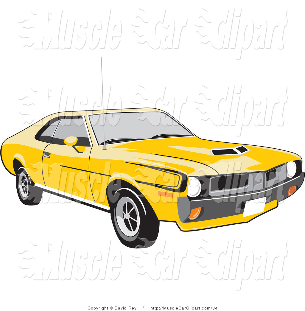 1024x1044 Muscle Car Clipart