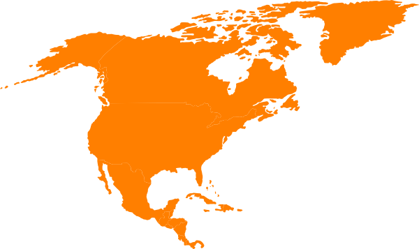 600x357 Clipart North America Map