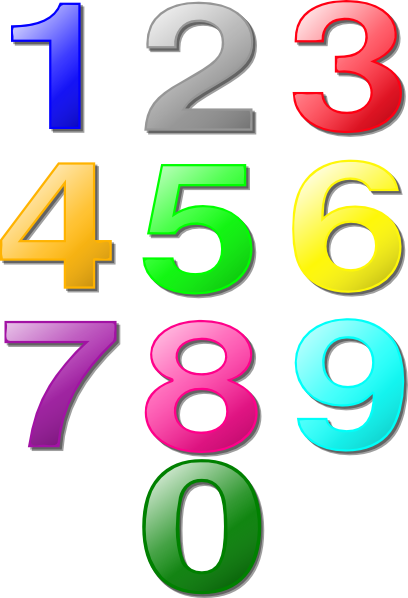 408x598 Clip Art Numbers 1 20 Clipart