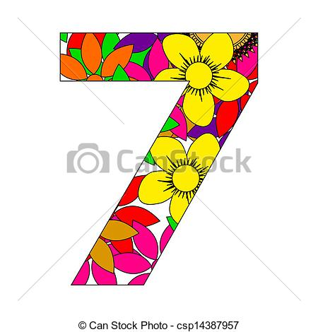 450x470 Number Clipart Seven