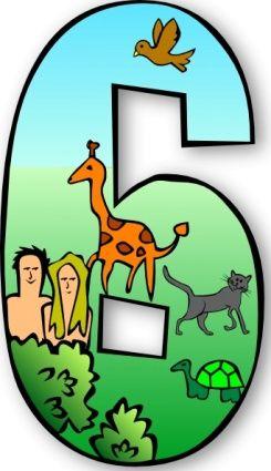 245x425 Clip Artcreation Creation Day Number Days Eden Numbers Adam