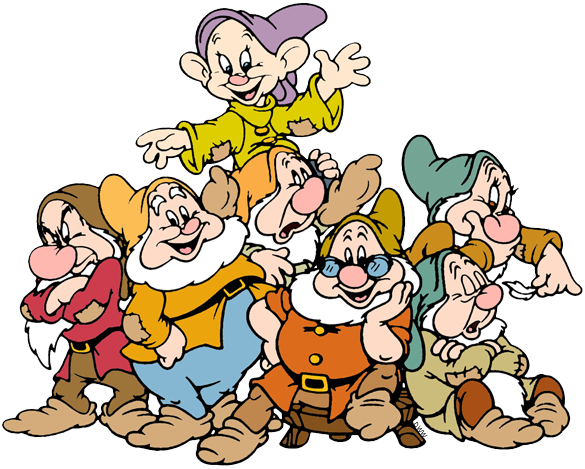585x469 The Seven Dwarfs Clip Art Disney Clip Art Galore