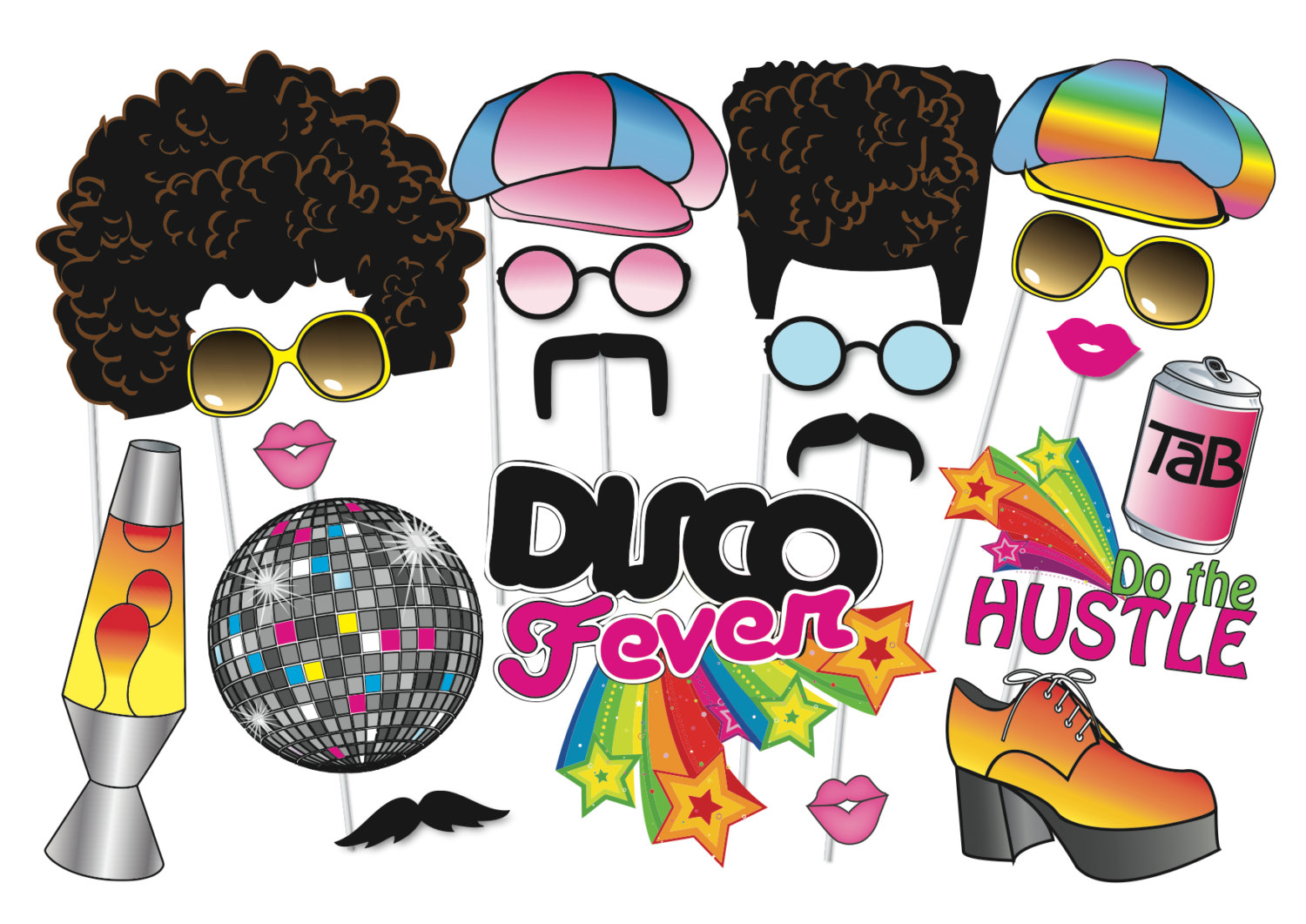 1500x1061 Glass Clipart 70'S
