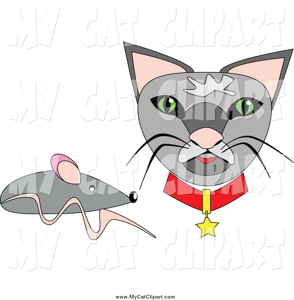 1024x1044 Clip Art Of A Gray Mouse And Cat Face By Kaycee