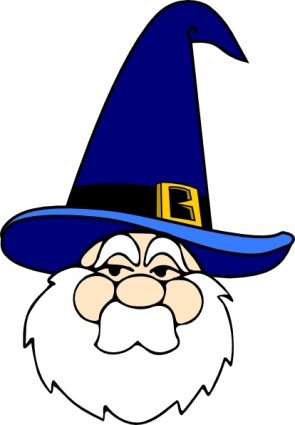 295x425 Free Wizard In Blue Hat Clipart And Vector Graphics