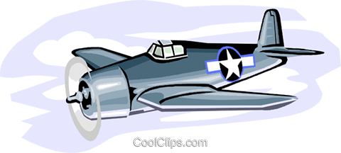 480x216 Military Industry, Military F6f Hellcat Royalty Free Vector Clip