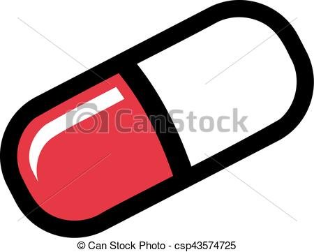 450x361 Pill Cartoon Style Vector Illustration