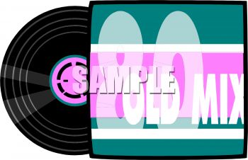 350x226 Royalty Free Clip Art Image 80s Music Record Album And Cover Sleeve