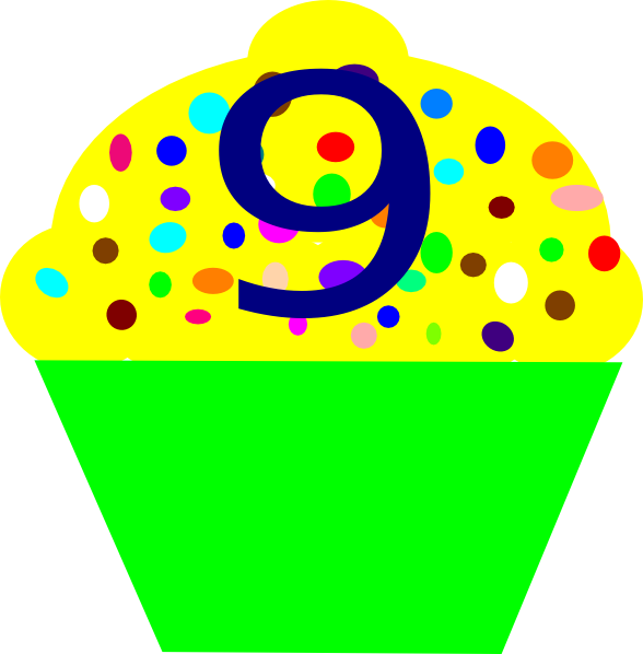 588x598 Cupcake 9 Clip Art