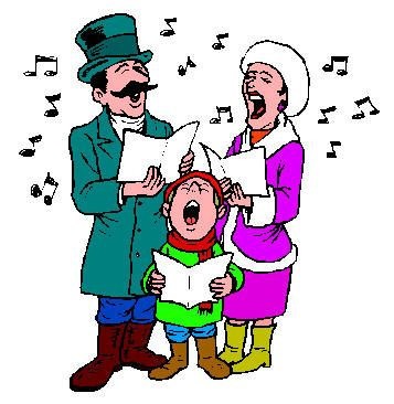 357x366 Carol Singers Clipart People Singing Christmas Carols Clipart Free