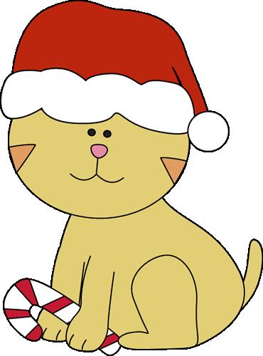370x500 Cat Christmas Clipart