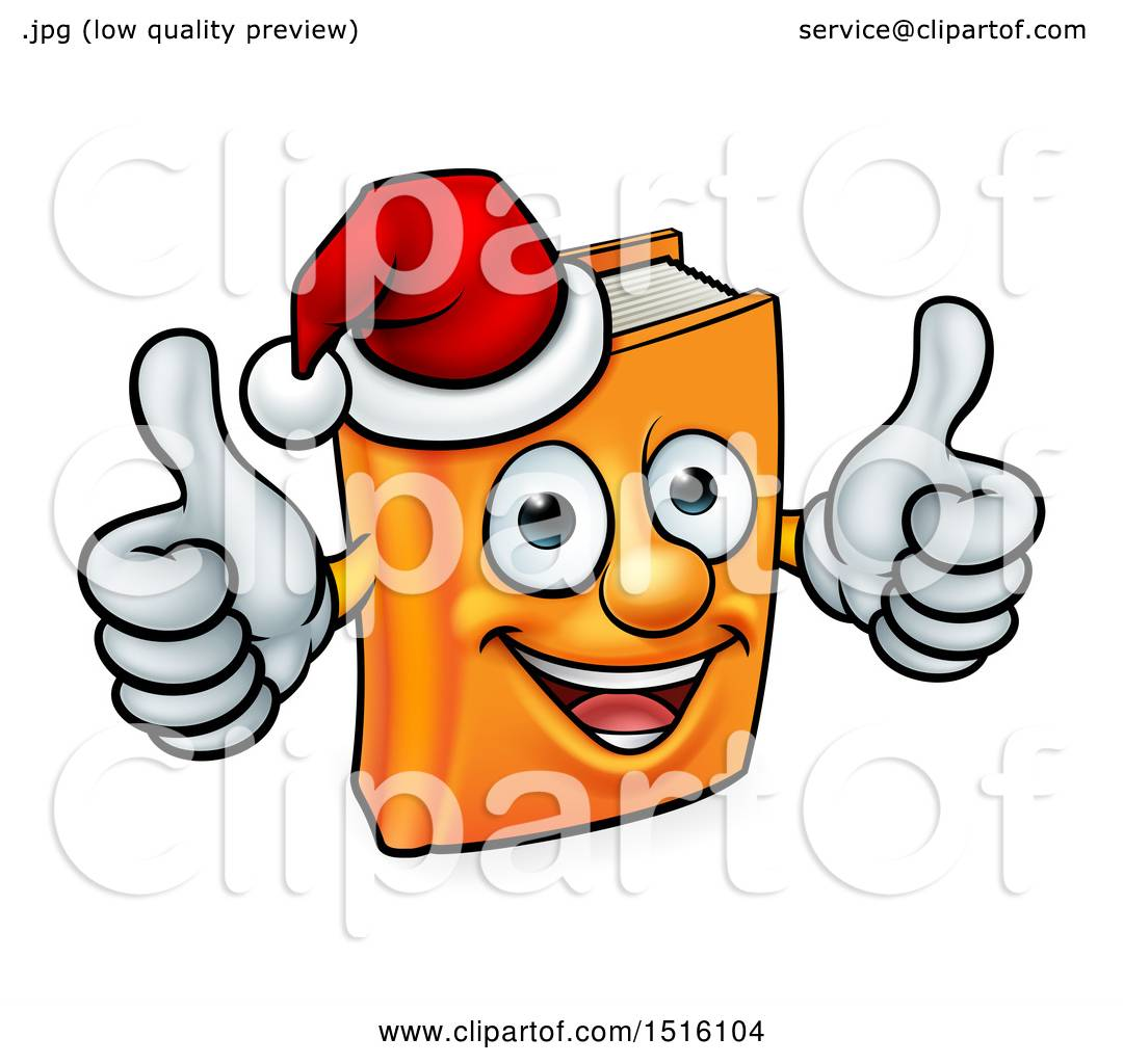 1080x1024 Clipart Of A Christmas Story Book Character Mascot Giving Two
