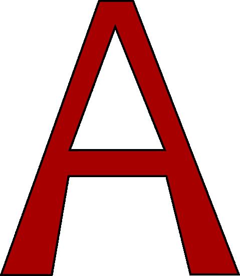 479x550 A Clip Art Red Letter A Clip Art Red Letter A Image