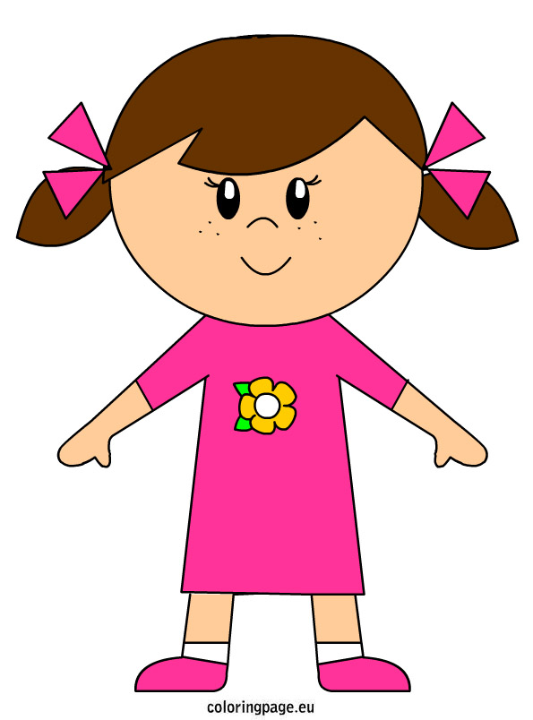 595x804 Girl Clipart Person Pencil And In Color Girl Clipart Person