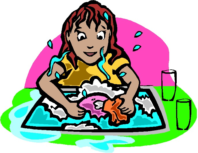 687x533 Girl Washing Dishes Clipart