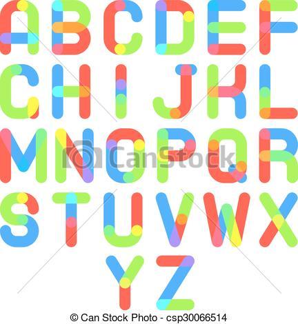 432x470 Round Font Alphabet A To Z Minimal Symbol Icon Vector Illustration