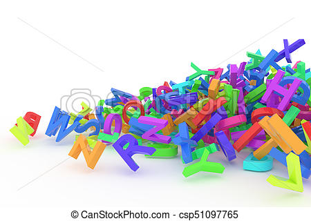 450x320 Stack Of Colorful Alphabets Letters From A To Z For Stock