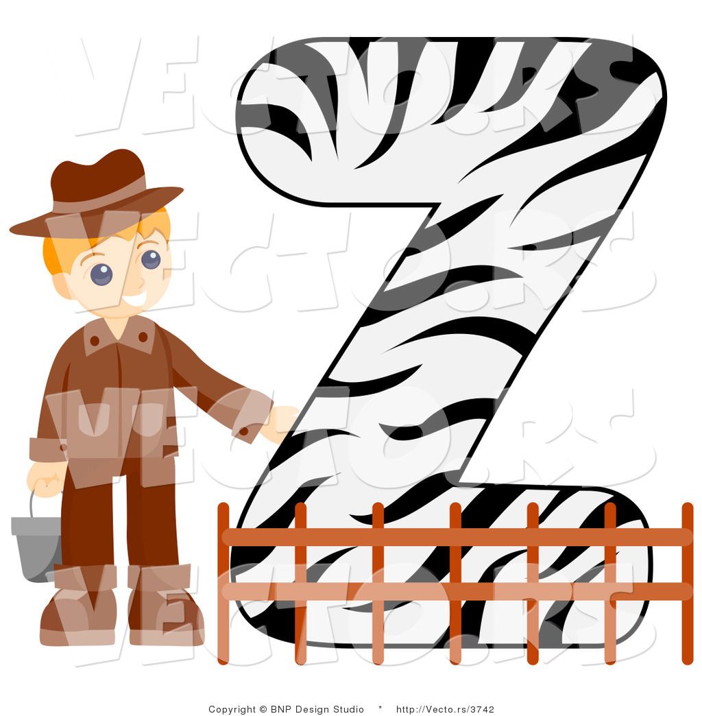 1024x1044 Vector Of Alphabet Letter Z With A Zookeeper Boy By Bnp Design