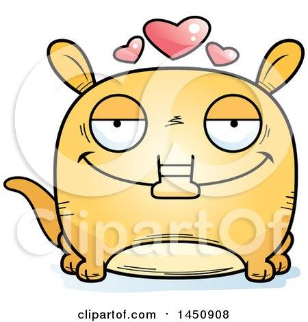 450x470 Clipart Graphic Of A Cartoon Loving Aardvark Character Mascot