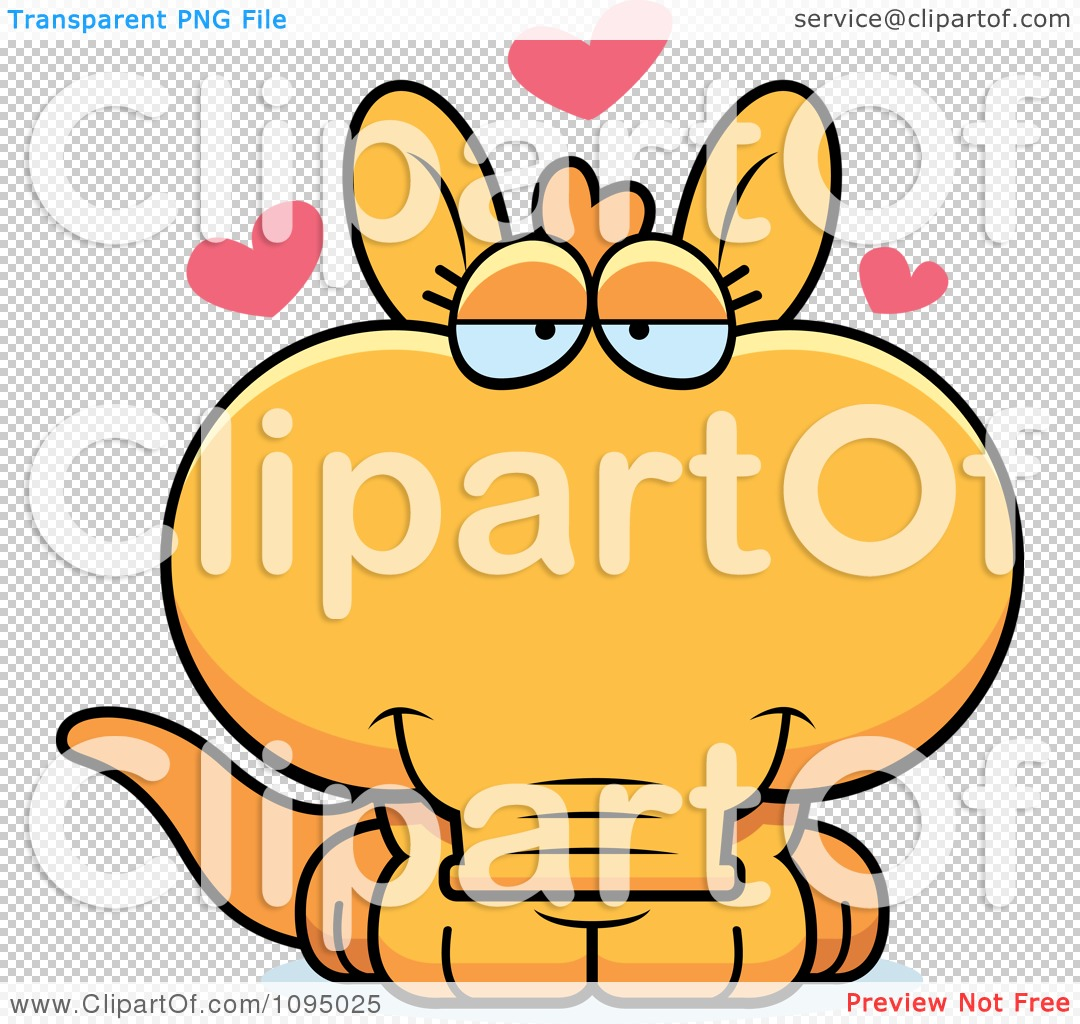 1080x1024 Clipart Orange Aardvark In Love