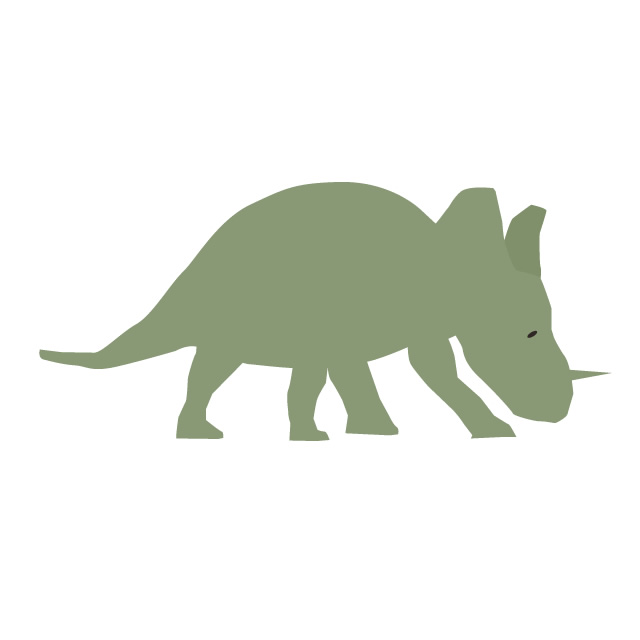 640x640 Triceratops Clip Art Material Free Illustration Image