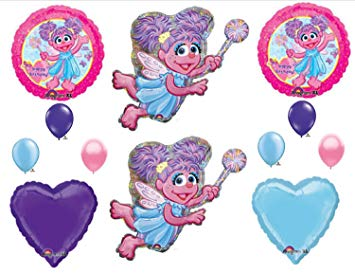 355x274 Sesame Street Abby Cadabby Birthday Bouquet Balloons (12 Pieces