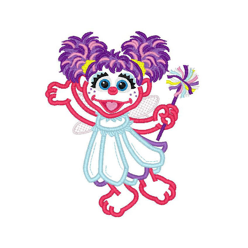 850x850 Sesame Street Abby Cadabby Fairy Applique Machine Embroidery