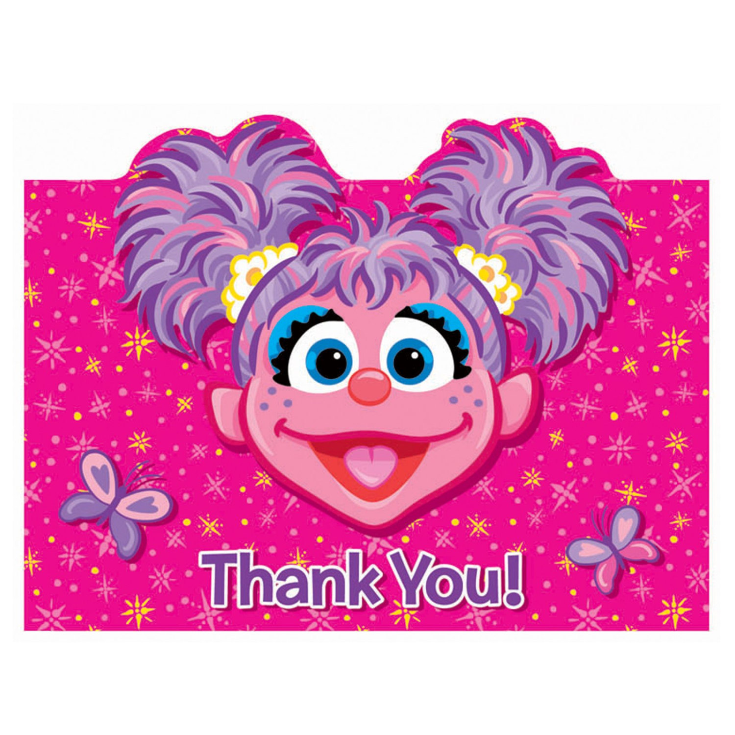 1500x1500 Abby Cadabby Instant Download Thank You Note Note Card