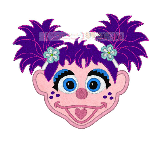 570x504 Abby Cadabby Digital Machine Embroidery Design