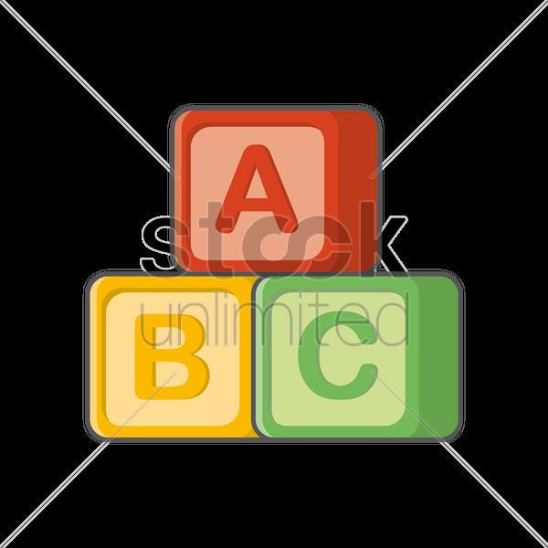 600x600 Abc Blocks Vector Image