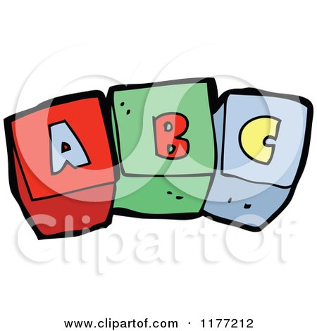 450x470 Cartoon Of Alphabet Blocks Spelling Words Royalty Free Vector