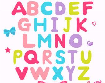 340x270 Alphabet Clipart Abc Clip Art Super Bundle Price School