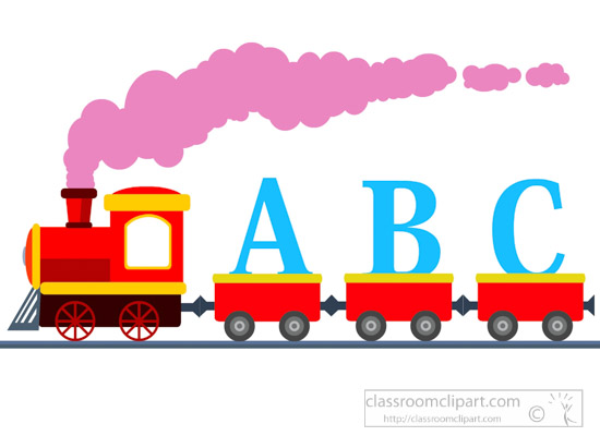 550x400 Train Clipart Train With Letters Abc Learning Clipart