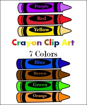 291x350 Crayons 7 Colors Clip Art By Abc Helping Hands Tpt