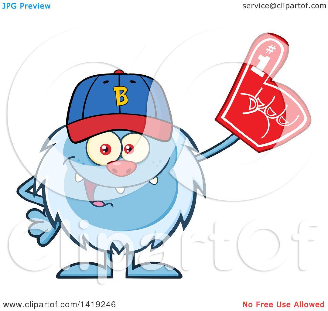 1080x1024 Clipart Of Cartoon Yetibominable Snowman Sports Fan, Wearing