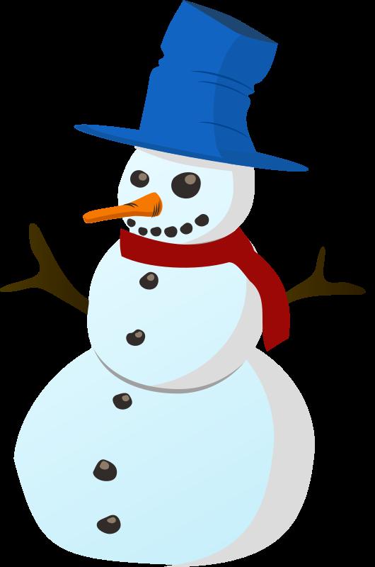 530x800 Snowman Clipart