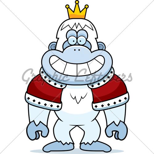 500x500 Cartoon Yeti King Gl Stock Images