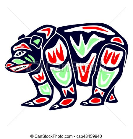 450x470 Bear In Aboriginal Tribe Cartoon, I Made It Using Coreldraw