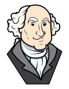 234x300 George Washington Amp Abraham Lincoln Clip Art Cartoon Vector