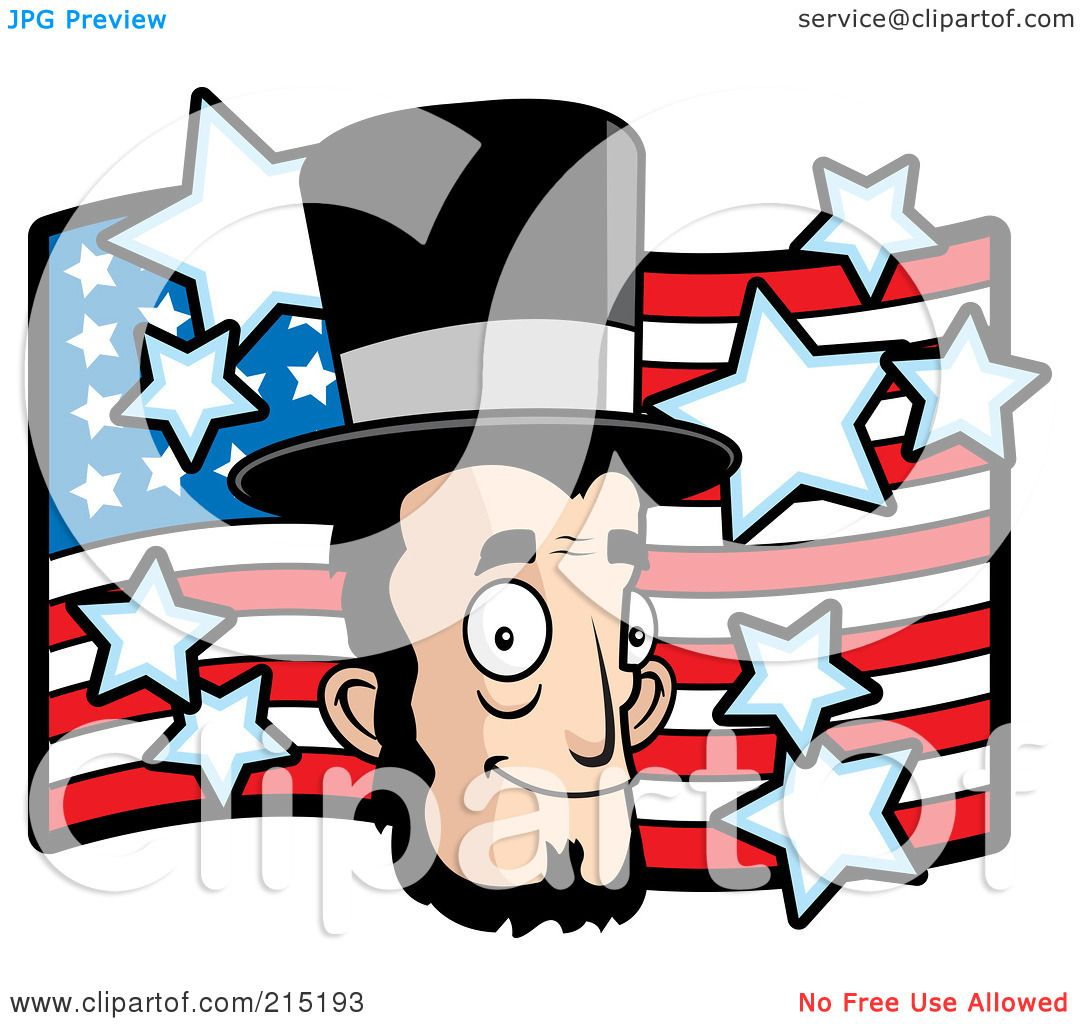 1080x1024 Royalty Free (Rf) Clipart Illustration Of Abe Lincoln's Face Over