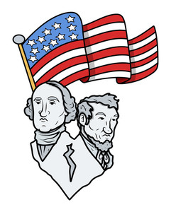 241x300 Sculpture Of Abraham Lincoln And George Washington Vector Clip Art