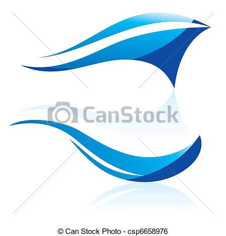 450x470 Abstract vector waves. Vector illustration of abstract blue